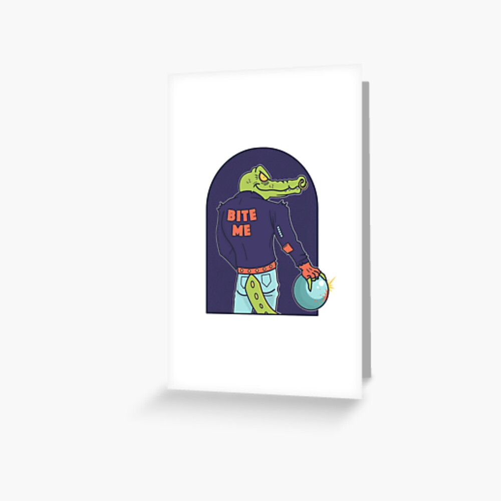 Alley Gator Greeting Card
