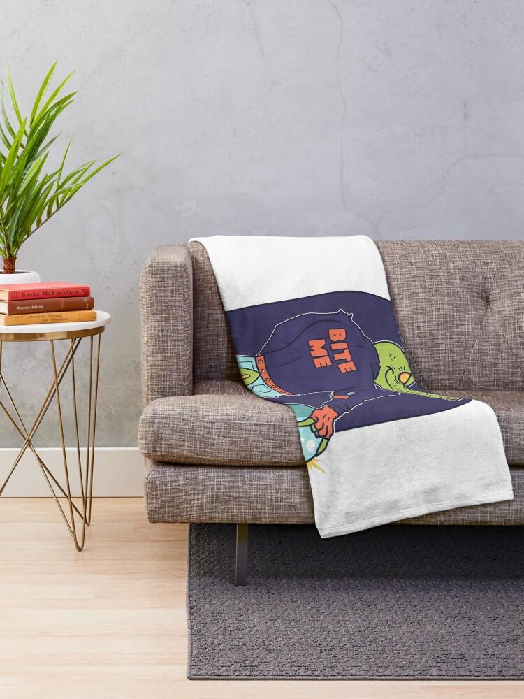 Alternate view of Alley Gator Throw Blanket