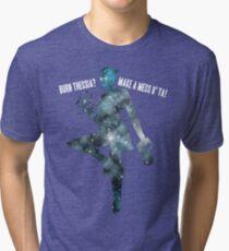 Mass Effect Silhouettes, Liara - Burn Thessia? Make a Mess o' Ya! Tri-blend T-Shirt