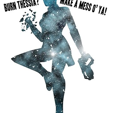 Mass Effect Silhouettes, Liara - Burn Thessia? Make a Mess o' Ya! by joeymaggs