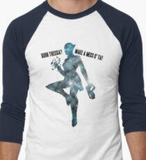 Mass Effect Silhouettes, Liara - Burn Thessia? Make a Mess o' Ya! Men's Baseball ¾ T-Shirt