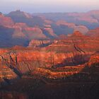 Grand Canyon Sunset Colors by Stephen Vecchiotti