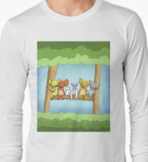 Multi coloured cute koala in a tree Long Sleeve T-Shirt