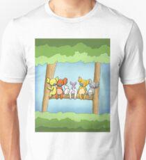 Multi coloured cute koala in a tree Slim Fit T-Shirt