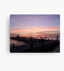 Sunset over Ocean Beach, Fire Island Canvas Print