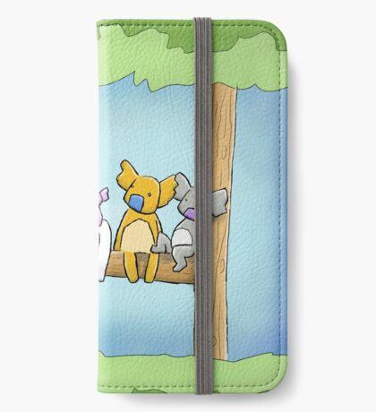 Multi coloured cute koala in a tree iPhone Wallet