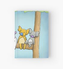 Multi coloured cute koala in a tree Hardcover Journal
