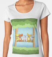 Multi coloured cute koala in a tree Premium Scoop T-Shirt