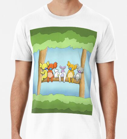 Multi coloured cute koala in a tree Premium T-Shirt