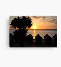 Sunset at Gurnard, Isle of Wight Canvas Print