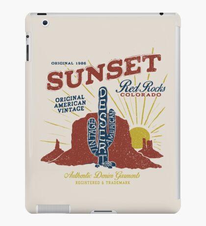 Red Rocks Colorado Vintage iPad Case/Skin