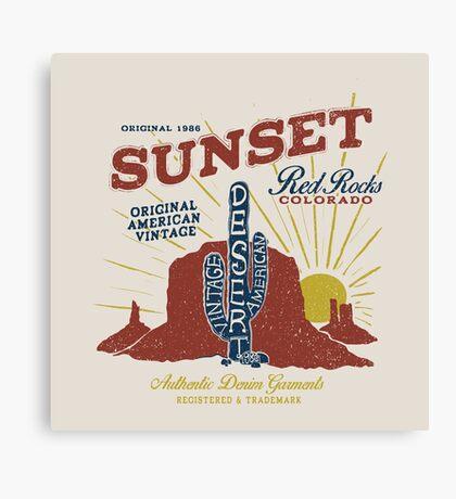 Red Rocks Colorado Vintage Canvas Print
