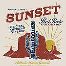Red Rocks Colorado Vintage by Chocodole