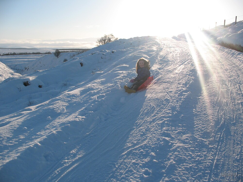 Sledging in the winter sun by wjohnd