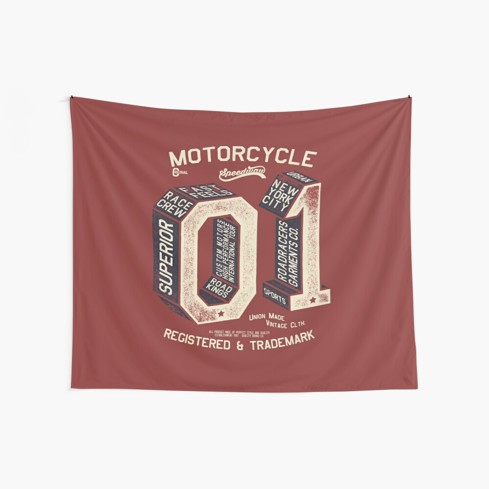 Motorcycle 01 New York Wall Tapestry