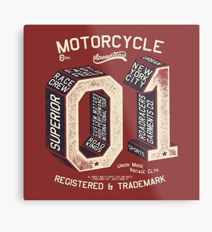 Motorcycle 01 New York Metal Print