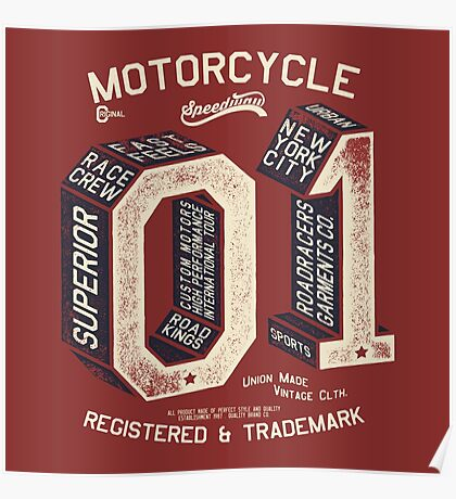 Motorcycle 01 New York Poster