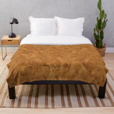 Peanut Butter Spread Pattern Throw Blanket