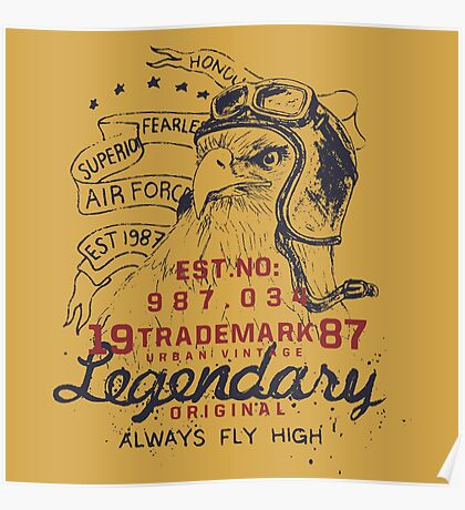 Legendary Air Force Eagle Poster