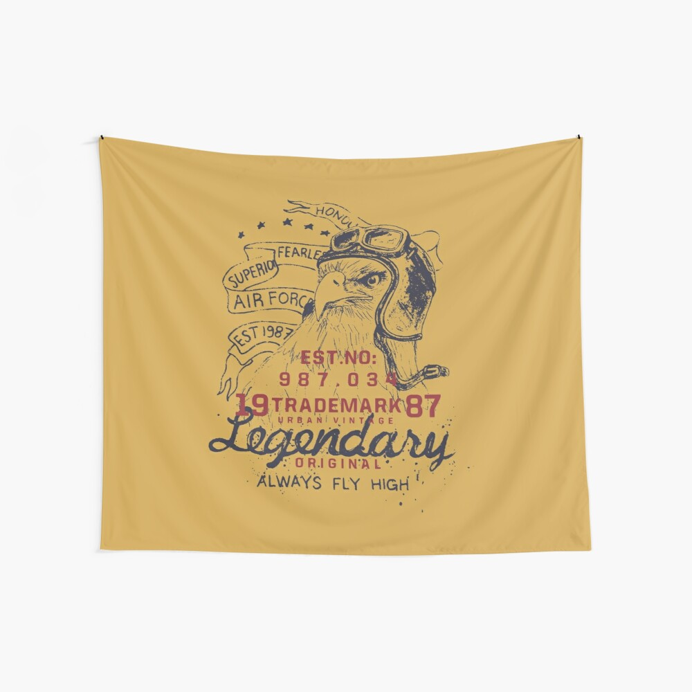 Legendary Air Force Eagle Wall Tapestry
