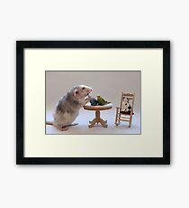 I love my birds :) Framed Print