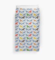 Dala horses pattern - swedish folk design Duvet Cover