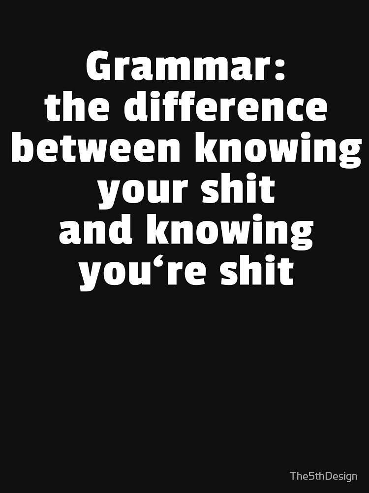 Gramática: La diferencia entre tu y tu de The5thDesign