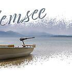 Ein Boot auf dem Ciemsee von Daniel Crnkovic