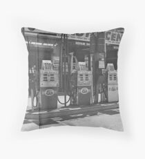 gas pumps Throw Pillow
