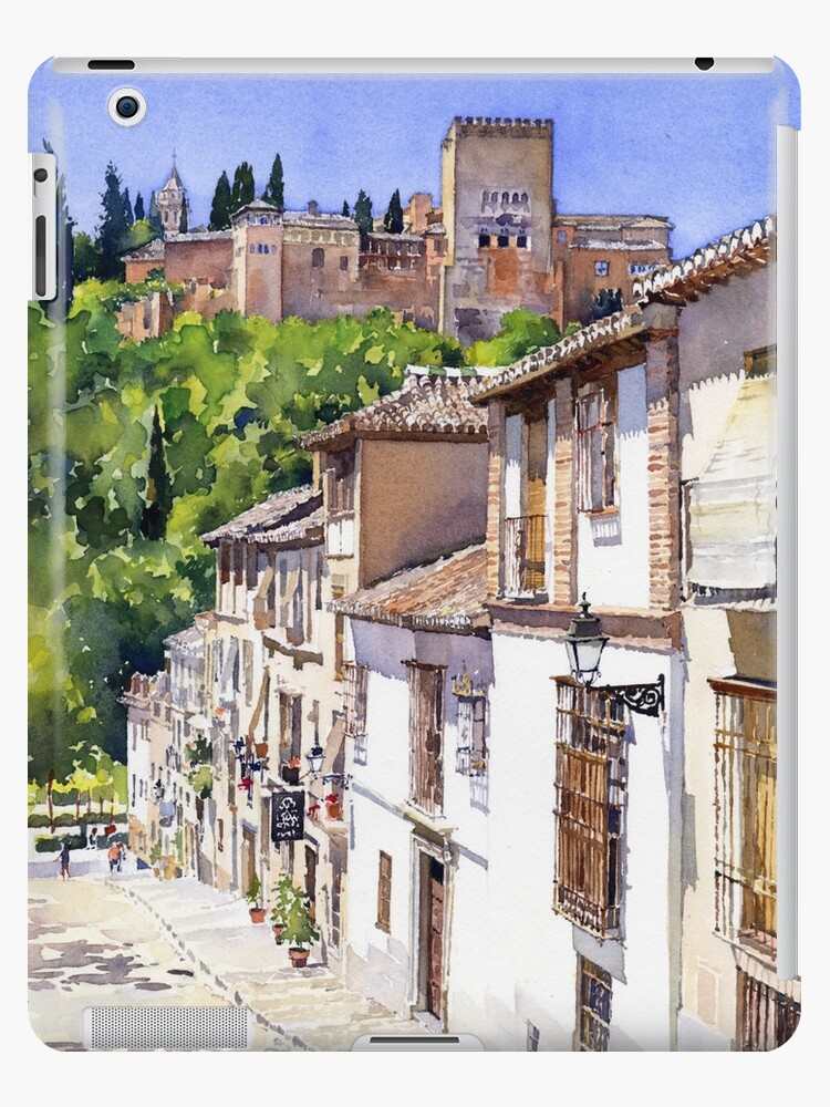 'The Alhambra from Calle Victoria, Granada, Spain' iPad Case/Skin by  Margaret Merry