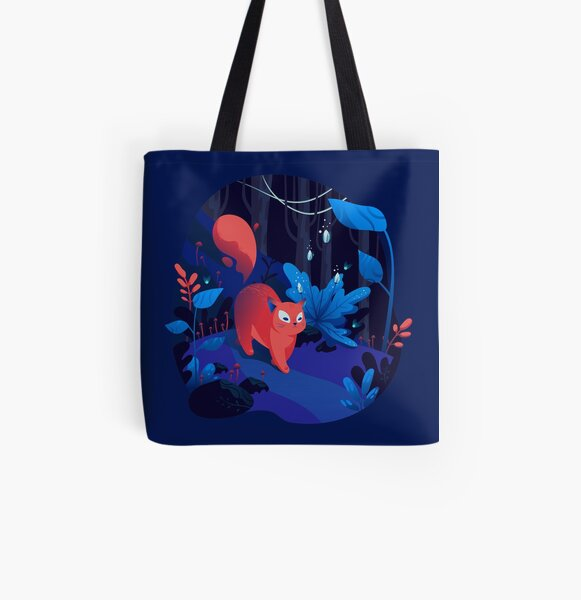 Wild cat and Magic All Over Print Tote Bag