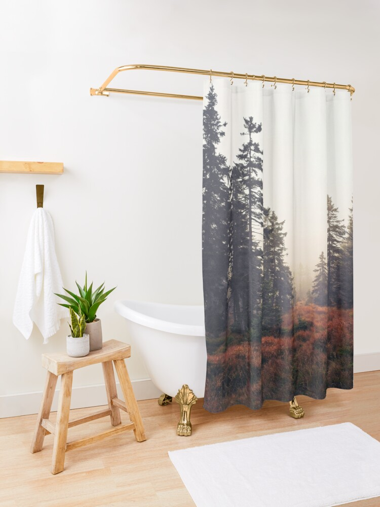 Alternate view of You Are Here Shower Curtain