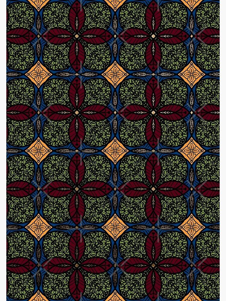 Ankara African print (olive). by cardwellandink