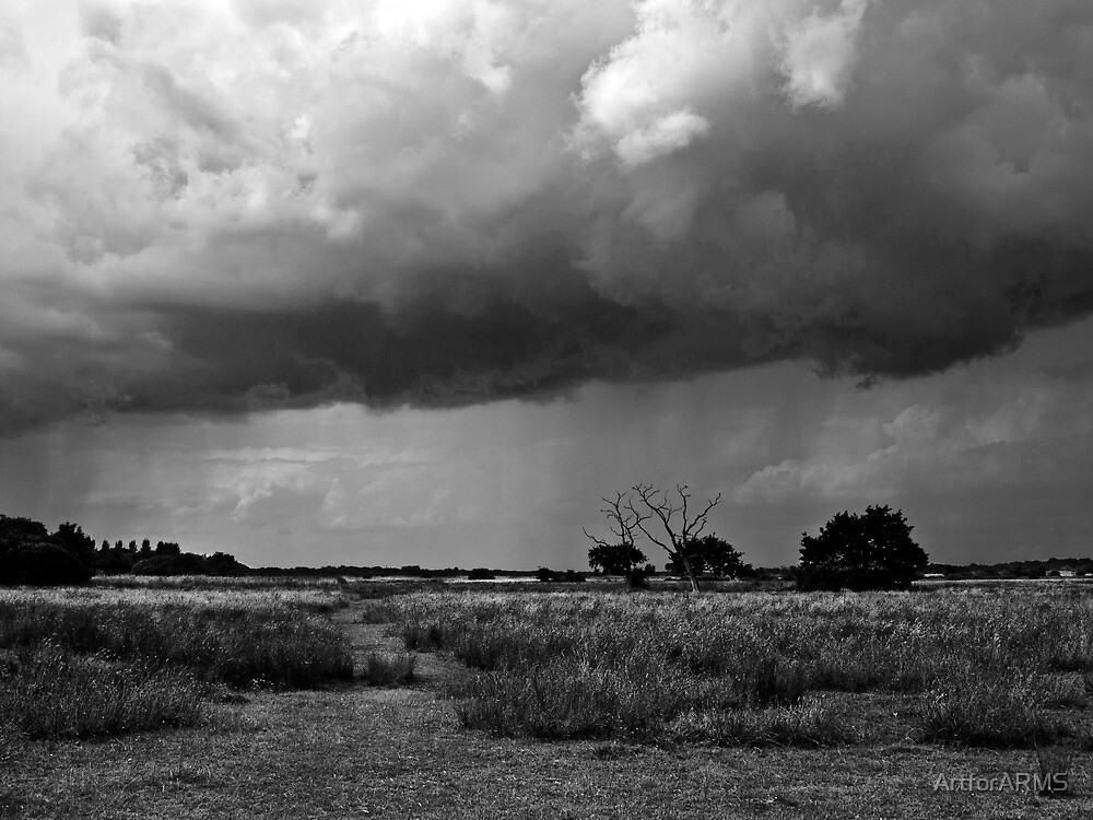 Storm Clouds are Gathering Suffolk B&W by ArtforARMS