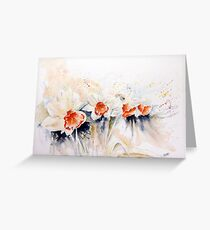 Dancing Daffodils Greeting Card