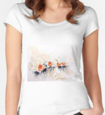 Dancing Daffodils Fitted Scoop T-Shirt