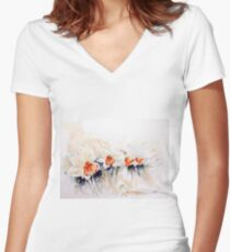 Dancing Daffodils Fitted V-Neck T-Shirt