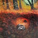 Three Badgers  by vickymount