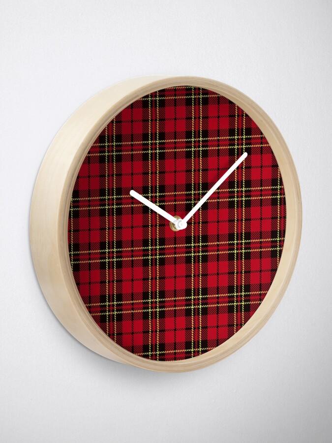 Alternate view of Brodie tartan clan scotland Clock