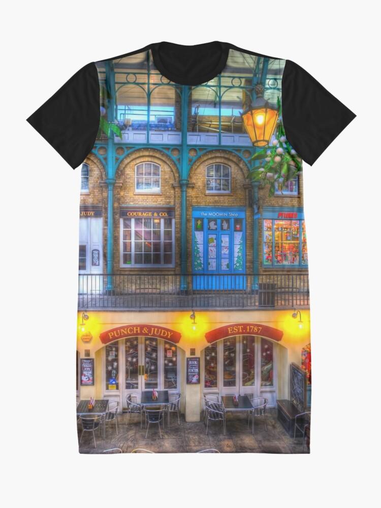 Alternative Ansicht von Der Schlag und Judy Pub Covent Garden T-Shirt Kleid