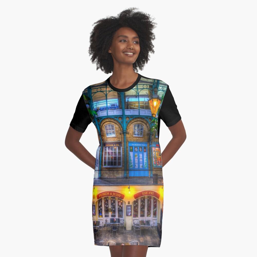 Der Schlag und Judy Pub Covent Garden T-Shirt Kleid