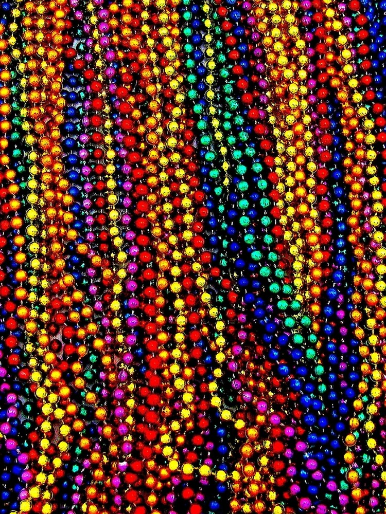 MARDI GRAS :Colorful Beads Print by posterbobs