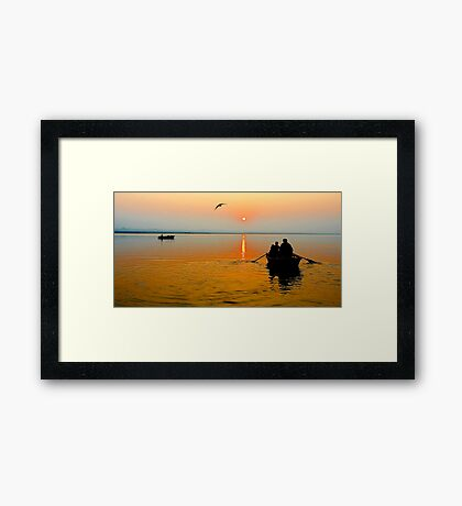 Sunrise in Varanasi Framed Print