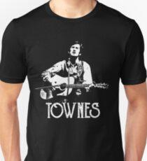 Townes Van Zandt - White Stencil Slim Fit T-Shirt