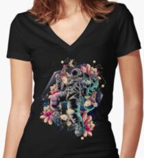Deep Space Fitted V-Neck T-Shirt