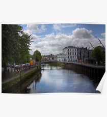 View from a Bridge - Cork, Ireland Poster
