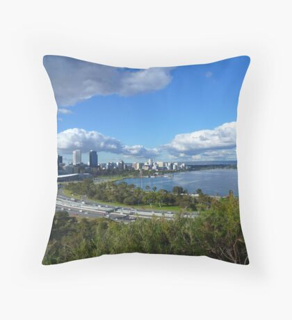 Swan River & Perth from Kings Park Throw Pillow