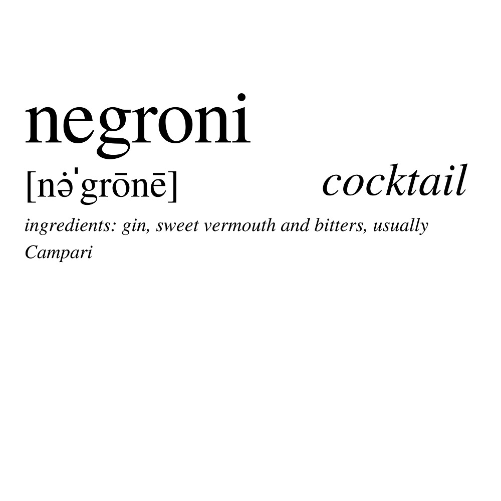 The Negroni - Italy's favorite cocktail by ALushLifeManual