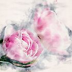 Pink Watercolor Tulips by Gben