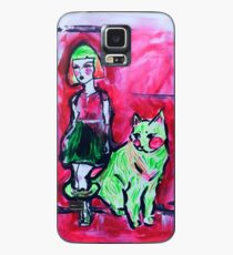 Neon Cat and Space Girl Case/Skin for Samsung Galaxy